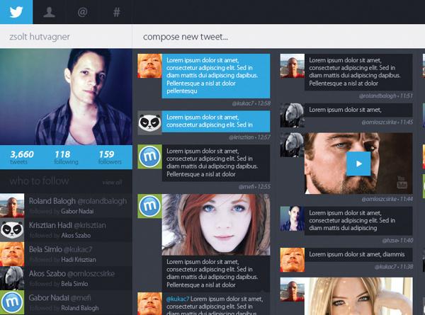 Twitter Redesign 1 #minimalist #web