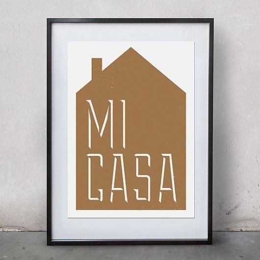 Mi Casa print of original screen print by thegoodpress on Etsy #print #design