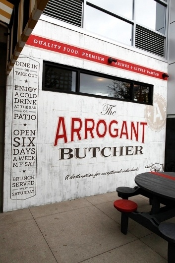 The Arrogant Butcher Wall Mural on the Behance Network #typography