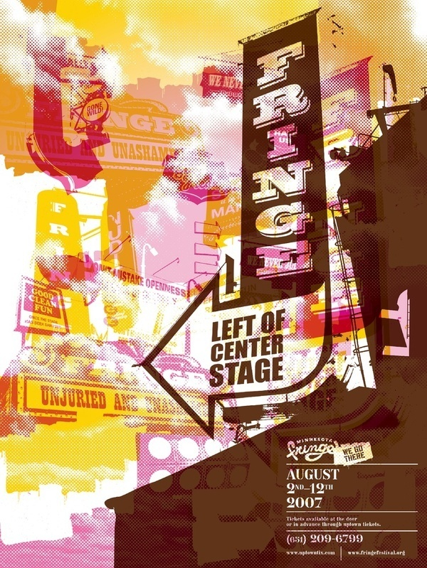 Fringe Festival. Graphic Design / Poster Design Inspiration #illustration #design #graphic #poster