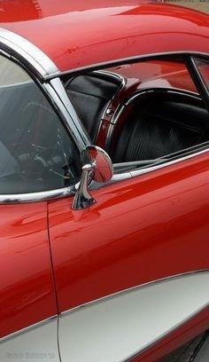 cherry, red, car, corvette