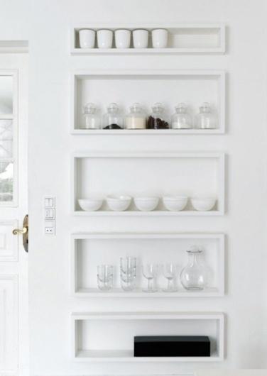 Minimal Interiors #interior #storage #kitchen #minimalism