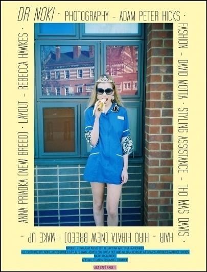 Dr Noki | Volt Café | by Volt Magazine #beauty #design #graphic #volt #photography #art #fashion #layout #magazine #typography
