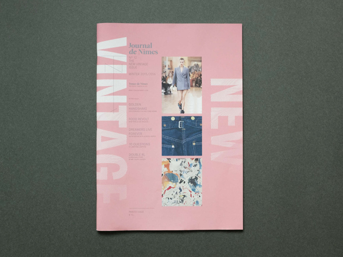 Journal de Nîmes Nº12 - The New Vintage Issue magazine cover typography layout
