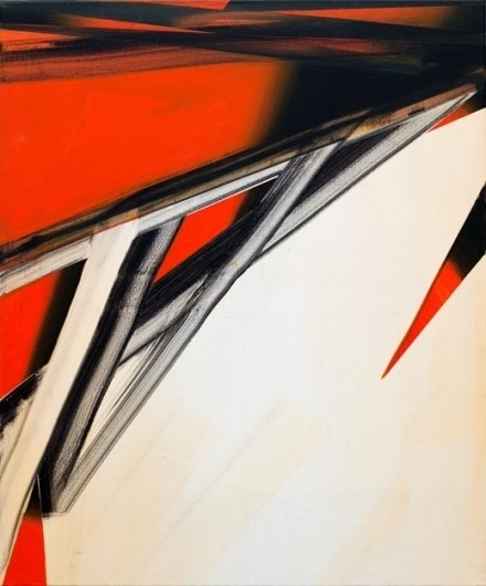 Phil Ashcroft // WORKS - Paintings #abstract #red #jagged #painting #diagonal