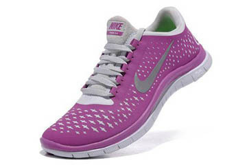 Nike Free 3.0 V4 Running Shoe Magenta Reflect Silver Pure Platinum Womens