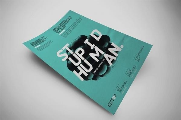 Stupid Human / Poster #fi #disco #sci #poster