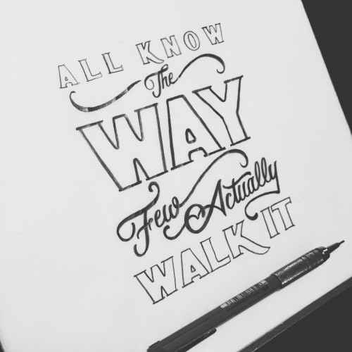 hand drawn typography by Jenna Bresnahan #type #typography #lettering #handtype #handdrawntype #handlettering #quote #customtype