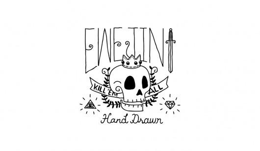 tumblr_m1lr2xlkNn1rqhy40o1_1280.png (1280×747) #lettering #death #illustration #tattoo #drawn #skull #hand #typography