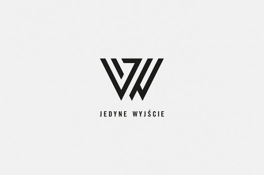 Jedyne WyjÅ›cie on the Behance Network #logo #minimal #typography