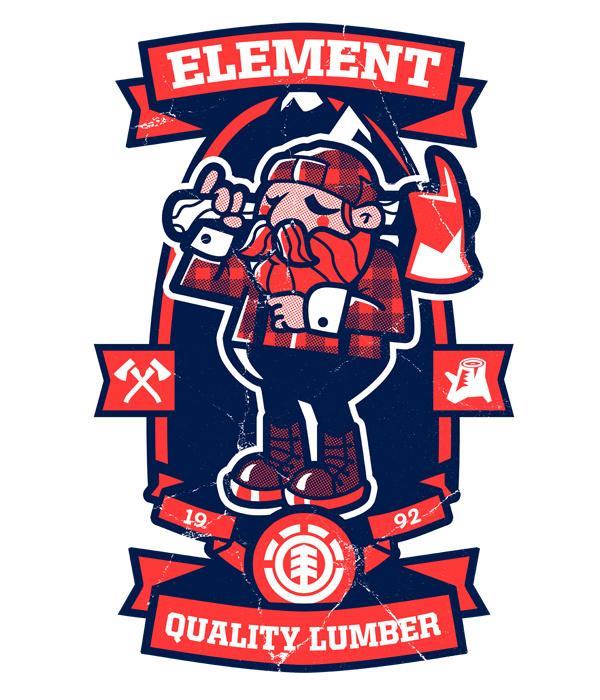 Element Jim Stark Co. #element #illustration #design #character