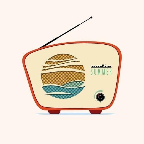 All sizes | radio_summer | Flickr - Photo Sharing! #radio #anthem #illustration #summer #device