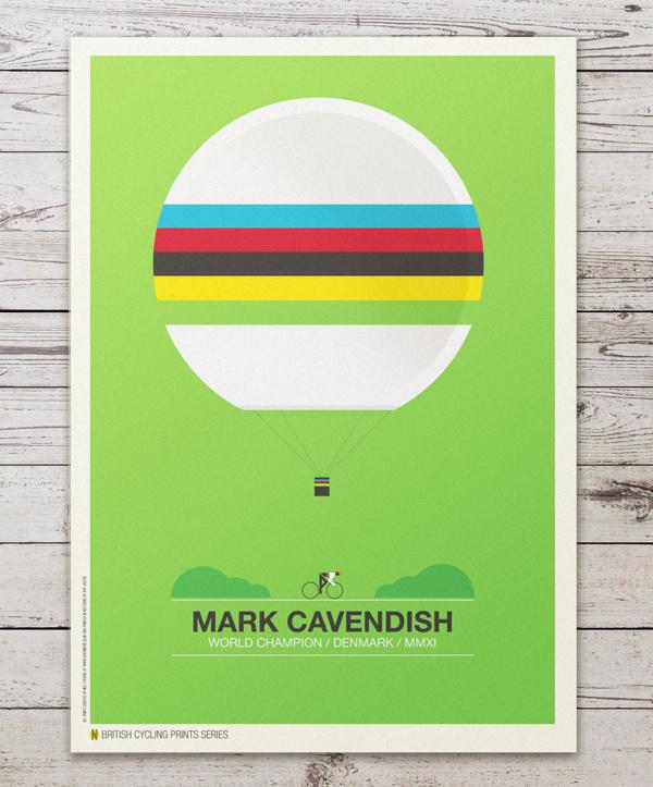 British Cycling Print Series #cycling #colorful #minimal