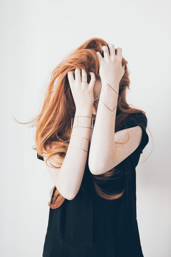AGATA BIELEŃ | A R T N A U #photo #geometry #jewelry #jewellery #ginger hair