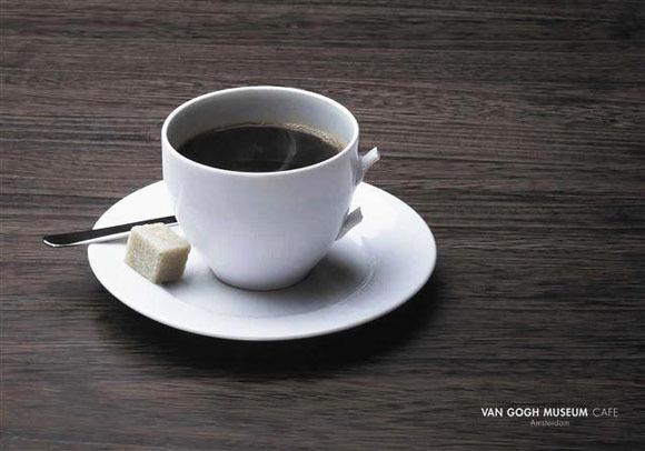 Van Gogh Museum Cafe Advertising #minimalistic #gogh #van #advertising #simple #cafe #advert #advertaising