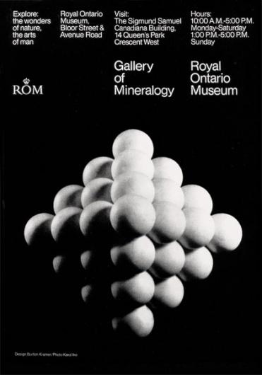 The CANADIAN DESIGN RESOURCE » Burton Kramer / ROM #kramer #white #black #grid #vintage #poster #burton #typography