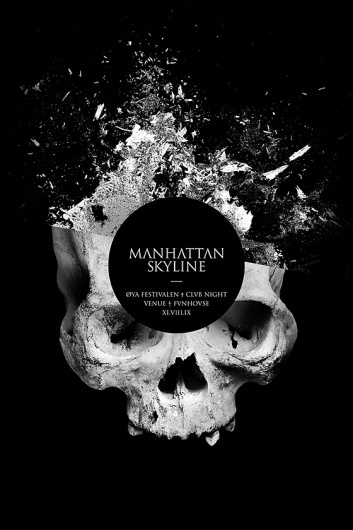 Jonas Eriksson » Every Reason to Panic #break #splatter #black #skull