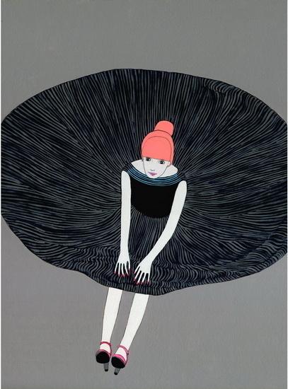 Party Dress print by Jennifer Davis #illustration #poster #party