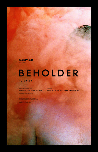 BEHOLDER #gallery #modern #exhibition #poster #promotion #din
