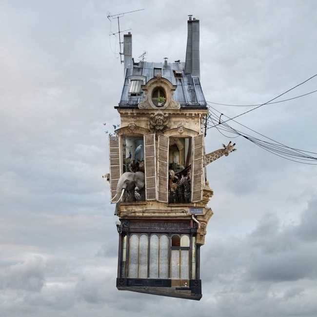 Flying Houses by Laurent Chehere #inspiration #photography #manipulations