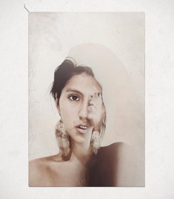 Paola León #cristian #leon #fotografia #exposure #portraits #trujillo #photography #paola #double #vintage #valverde #collage #peru