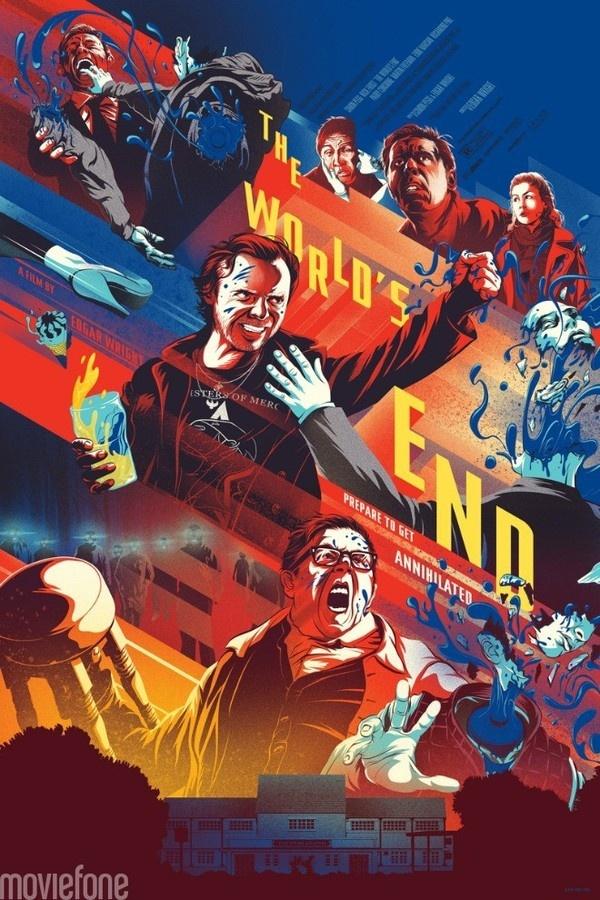 the world end mondo poster #movie #silkscreen #gig #kevin #illustration #poster #tong