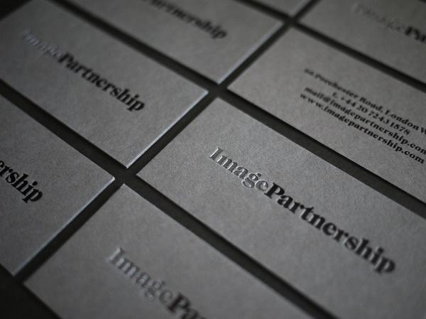 ImagePartnership #business #card #deboss #logo #foil