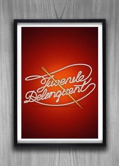 Juvenile Delinquent | Flickr - Photo Sharing! #vector #design #graphic #artwork #illustration #art #type #typo #typography