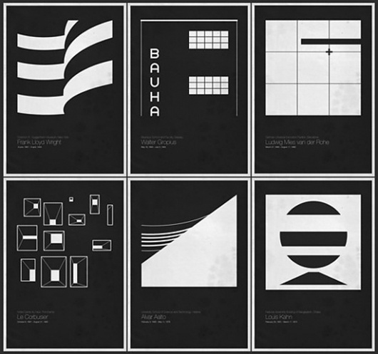 Six Architects Posters | Fubiz™ #design #graphic #posters