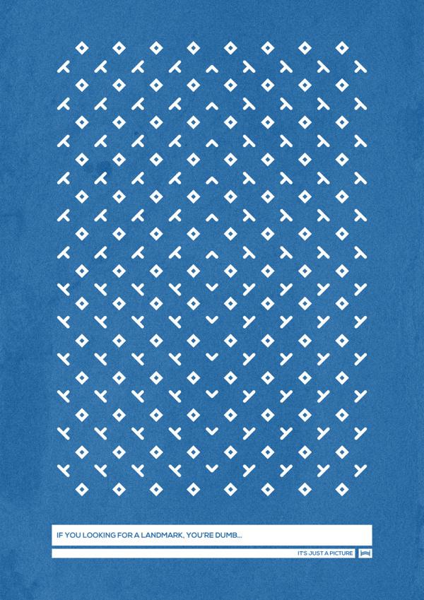 Nonsense - Hadrien Degay Delpeuch #nonsense #vector #print #poster #blue #paper