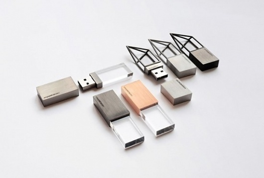 Artsy Empty Memory Flash Drives are Expensive | Geekosystem #memory #design #geometric #product #art #empty #logical