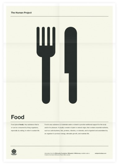 The Human Project (Food) Poster #inspiration #creative #design #graphic #grid #system #poster #typography