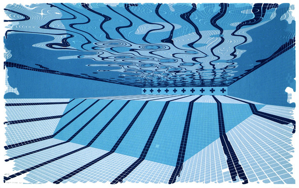 Editions : Forth Estate #silkscreen #water #print #graphic #screenprint #pool #under #swimming