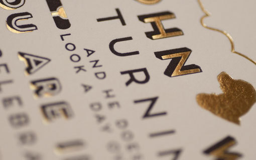 goldfoil3a #invite #typeface #gold #foil #typography