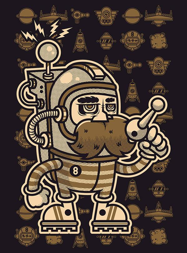 THE KING MONSTER 666 on Behance #vector #fuck #beard #eight #black #space #devil #illustration #poster #monster #666 #killer