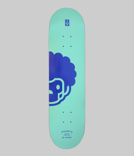Fourth Is King: Peekaboo Amigo Skate Deck: Mint #branding #deck #design #graphic #mint #skateboard #skate #logo