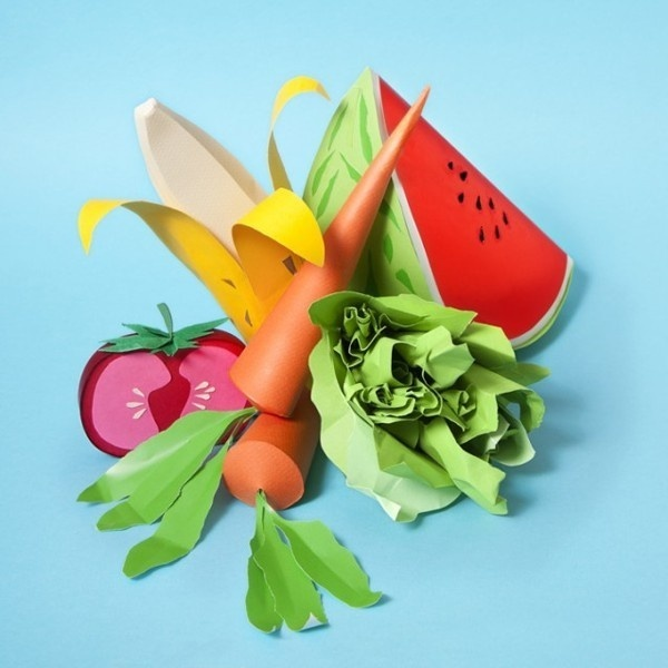 Are You Hungry ? Amazing Paper Food Art by Maria Benavente #design #graphic #food #art #paper