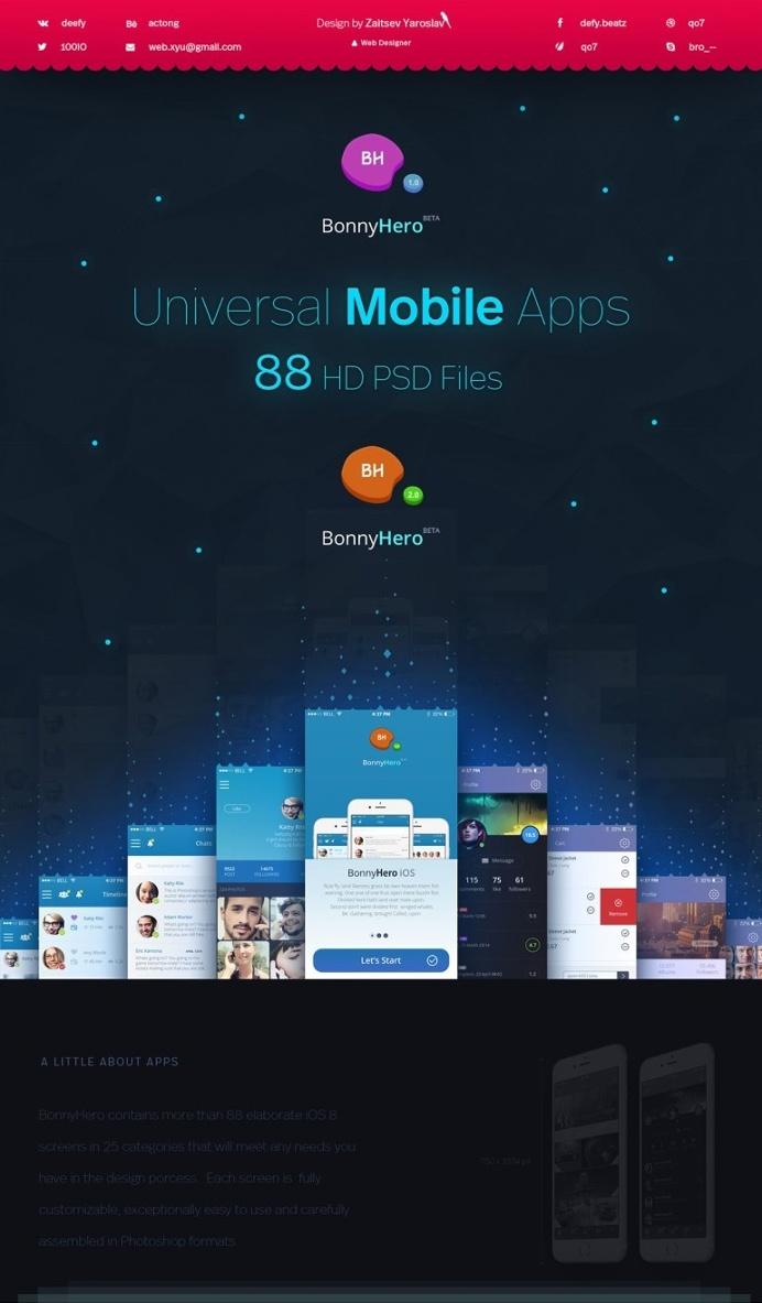 Bonny Hero App | Phone | Mobile UI
