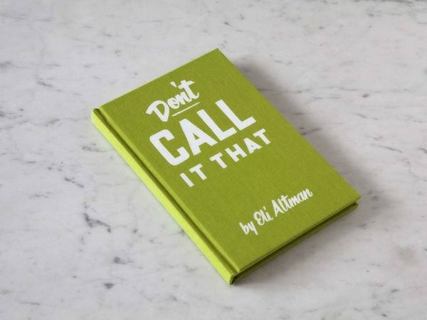 DON'T CALL IT THAT: A Naming Workbook #cover #book