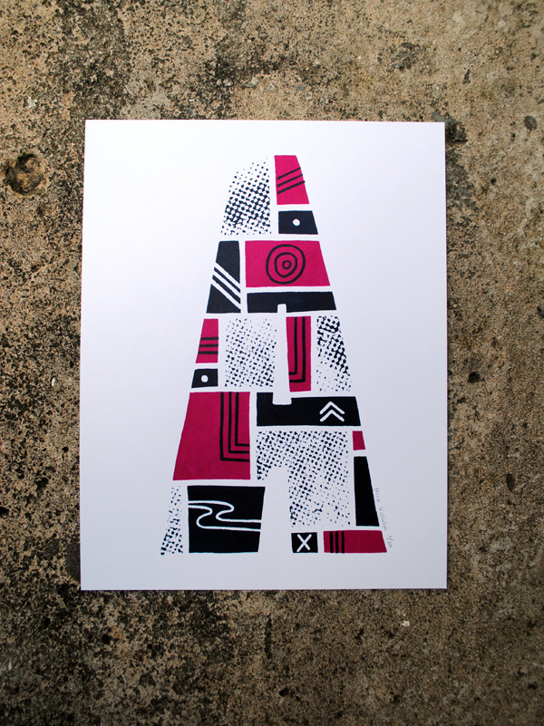 The Letter A #print #screenprint #screen #illustration #type #typography