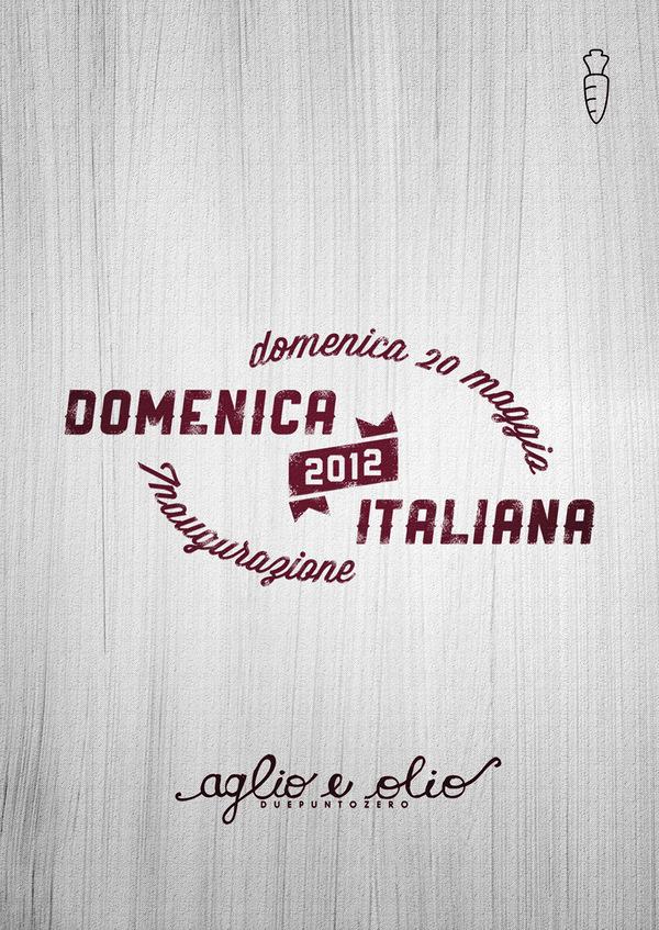 """Domenica Italiana 2012"" on the Behance Network #logo #poster #typography"