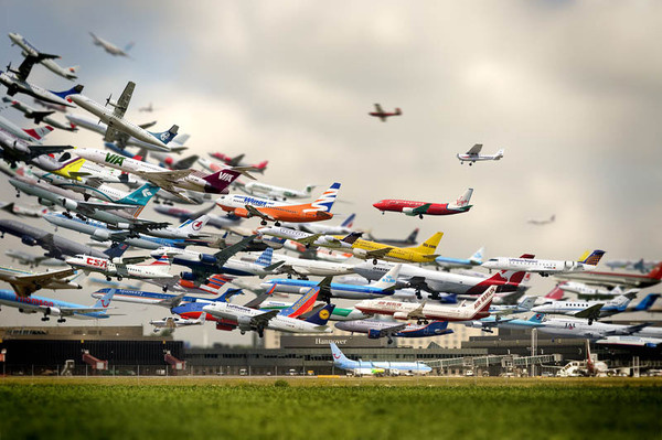 HANNOVER AIRPORT Photograph by HO-YEOL RYU #montage #photo #airport #planes