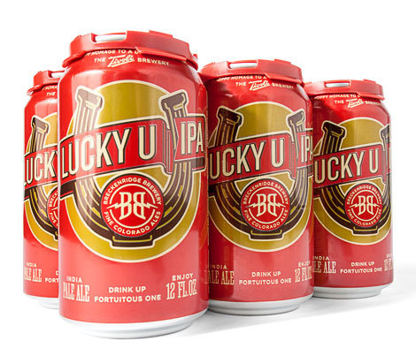 Breckenridge Lucky U IPA #packaging #beer #can #label