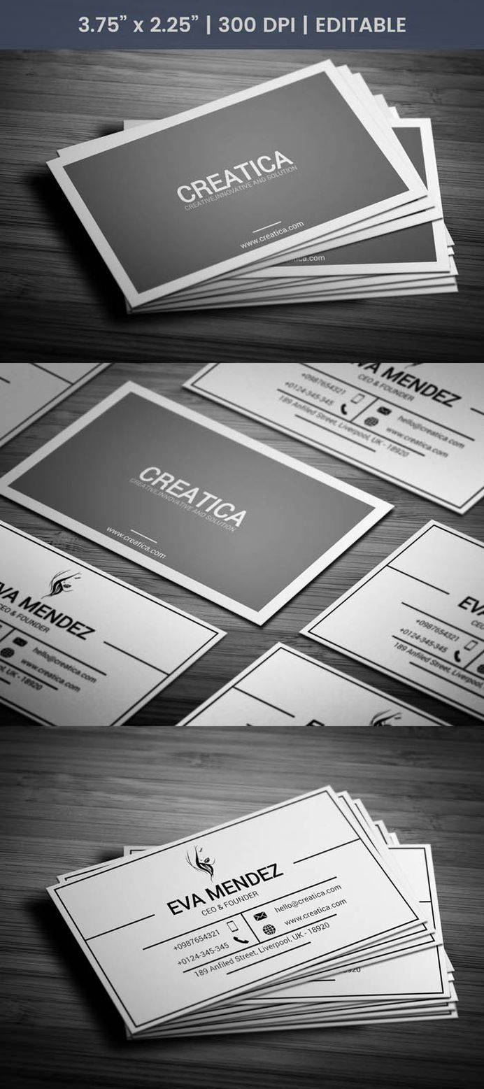 Free Minimal Ceo Business Card Template
