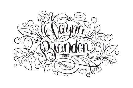 Dayna%26BrandonFinal.jpg 432×288 pixels #type #lettering #script