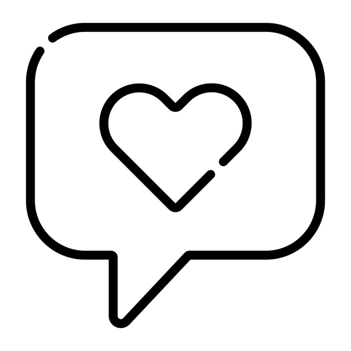 See more icon inspiration related to heart, like, love, feedback, chat, ui, love and romance, love message, valentines day, rating, romantic, messages, speech bubble and communication on Flaticon.