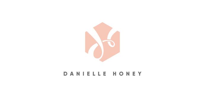 Danielle Honey branding and logo, by Redspa http://redspa.uk