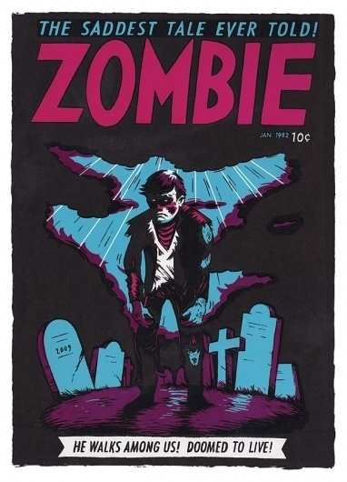 Zombie : Uglylogo #illustration #skaren #frode