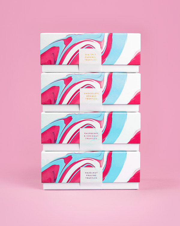 Costello & Hellerstein on Behance #abstract #water #packaging #hellerstein #& #color #chocolate #costello