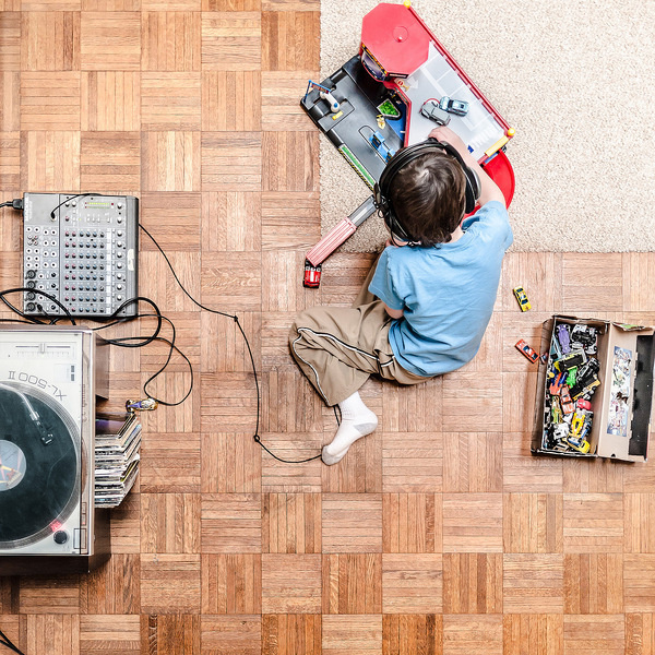 Home with my son, Jonah. Ithaca 2011 #matchbox #photography #cars #play #records